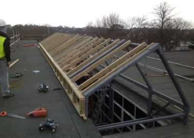 New roof structure for Henleaze primary school